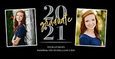 noble commencement graduation card 4x8 photo