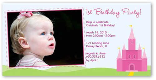 Birthday Castle Birthday Invitation