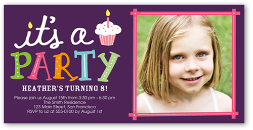 Party Cupcake Birthday Invitation