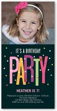 party dots birthday invitation 4x8 photo
