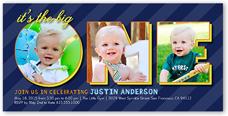 baby boy s first birthday invitations shutterfly