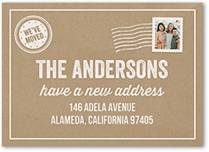 minimalist new home moving card new address card soft greens wreath moving announcement we/'ve moved