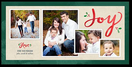 Simply Elegant Joy Christmas Card