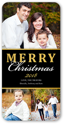 Shiny Banner Christmas Card