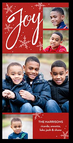 Joyous Sentiments Christmas Card, Square Corners