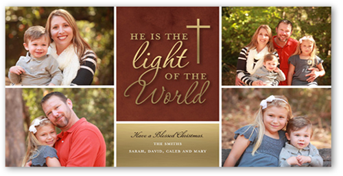 Light Of The World Religious Christmas Card