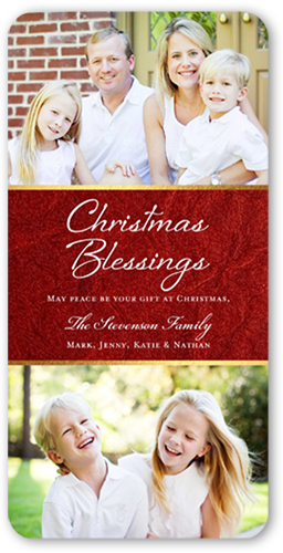 Loving Blessings Religious Christmas Card