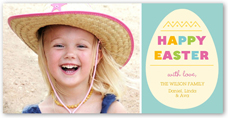 colorful egg easter card 4x8 photo