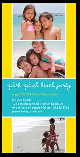 Splish Splash Summer Photo Card, Square Corners
