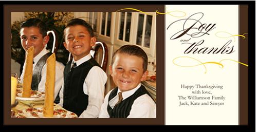 Joy And Thanks Fall Photo Card