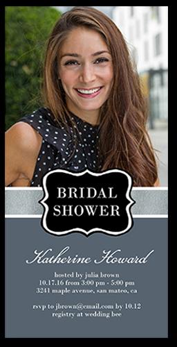 Sophisticated Shower Bridal Shower Invitation, Square Corners