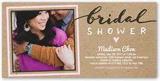 craft shower bridal shower invitation 4x8 photo