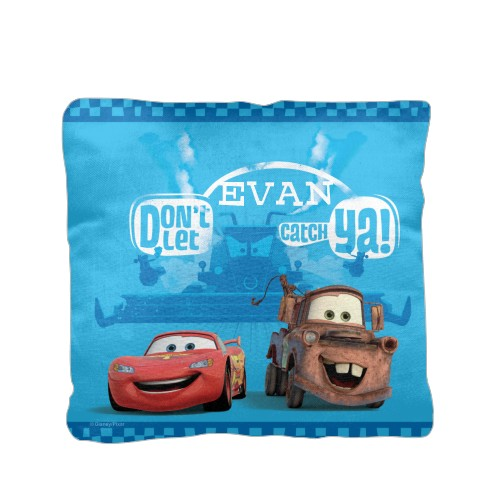 Disney Cars Mcqueen And Mater Pillow Blue