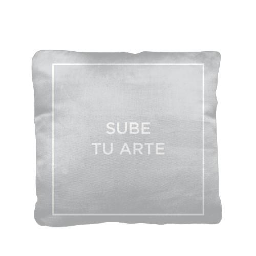 Sube Tu Arte Pillow, Cotton Weave, Pillow (Black), 16 x 16, Single-sided, Multicolor