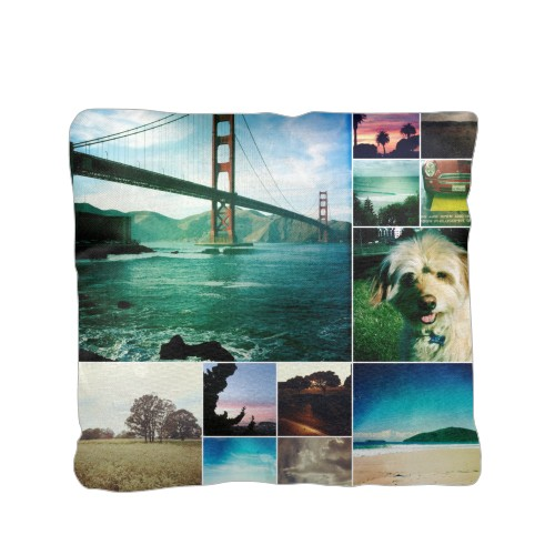 Collage Squares Pillow