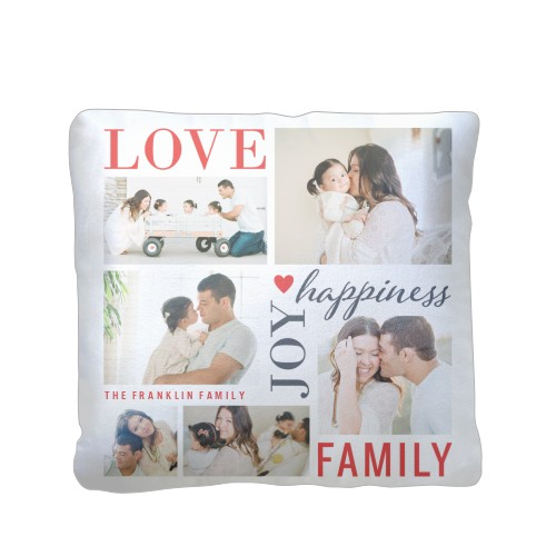 Love Joy Family Pillow Custom Pillows Home Decor Shutterfly