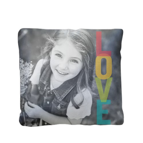 So Much Love Pillow, Sherpa, Pillow (Sherpa), 16 x 16, Single-sided, Yellow