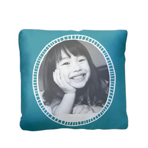 Doodle Frame Pillow, Plush, Pillow (Plush), 16 x 16, Single-sided, Blue