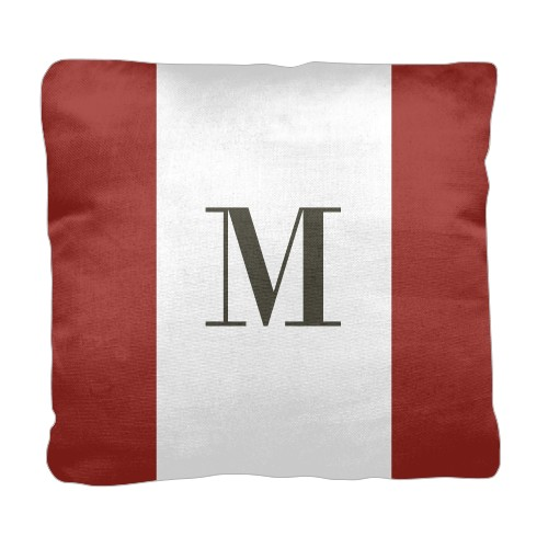 Simple Monogram Pillow Red