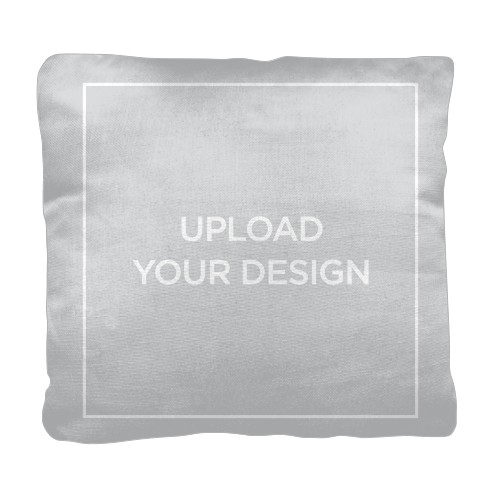 Upload Your Own Design Pillow, Cotton Weave, Pillow (Ivory), 18 x 18, Single-sided, Multicolor