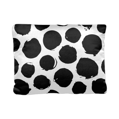 Large Dots Pillow, Cotton Weave, Pillow, 12 x 16, Double-sided, White