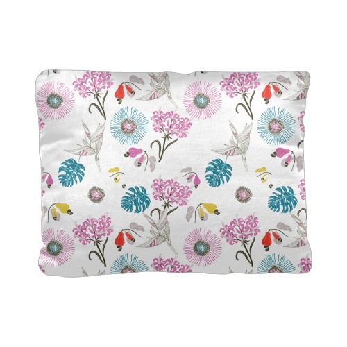 Graphic Floral Pillow