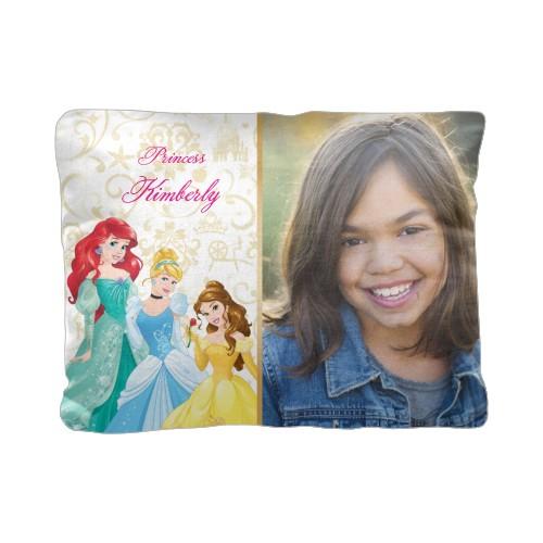 Disney Princesses Pillow, Cotton Weave, Pillow, 12 x 16, Double-sided, White