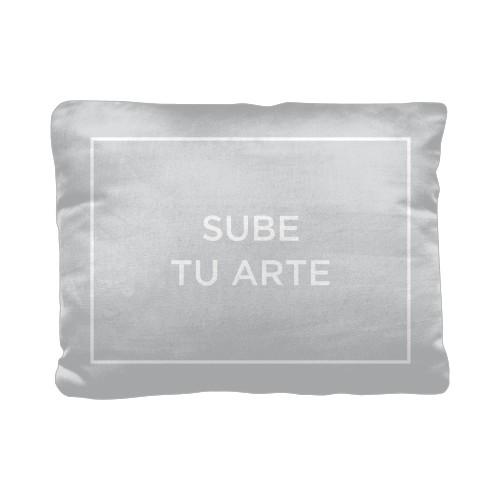 Sube Tu Arte Pillow, Cotton Weave, Pillow (Ivory), 12 x 16, Single-sided, Multicolor