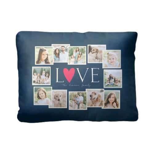 Love All Around Collage Pillow, Sherpa, Pillow (Sherpa), 12 x 16, Single-sided, Black