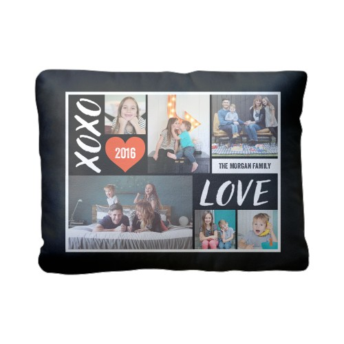 Xoxo Love Grid Pillow Custom Pillows Home Decor