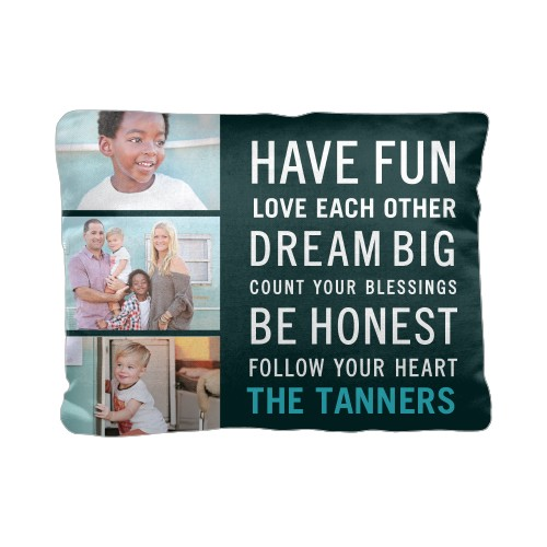 Have Fun Type Pillow, Cotton Weave, Pillow (Ivory), 12 x 16, Single-sided, Black