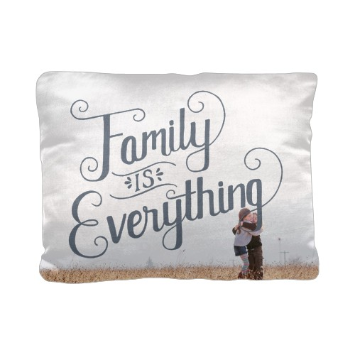 Family is Everything Pillow, Cotton Weave, Pillow (Black), 12 x 16, Single-sided, Grey