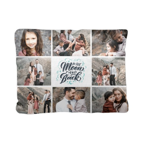 Whimsy To The Moon Pillow, Cotton Weave, Pillow, 12 x 16, Double-sided, Blue