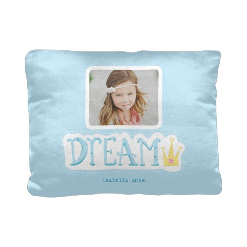 Princess Dream Queen Pillow, Cotton Weave, Pillow (Ivory), 12 x 16, Single-sided, Blue