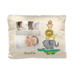 baby zoo animals pillow