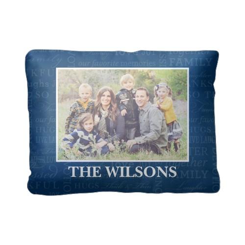 So Thankful Pillow, Sherpa, Pillow (Sherpa), 12 x 16, Single-sided, Blue