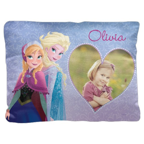 Disney Frozen Anna And Elsa Pillow, Cotton Weave, Pillow, 18 x 24, Double-sided, Purple