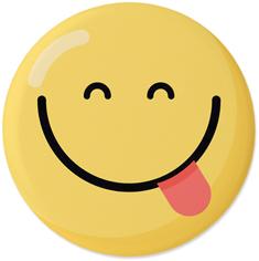 emoji happy face pins