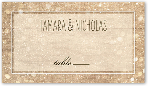 Sparkly Lights Wedding Place Card
