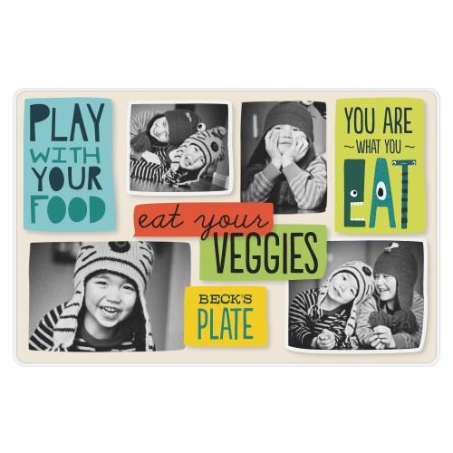 Eat Your Veggies Placemat, Multicolor