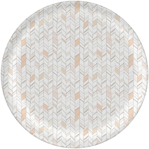 Natural Herringbone Plate