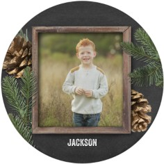 rustic pine and chalkboard plate