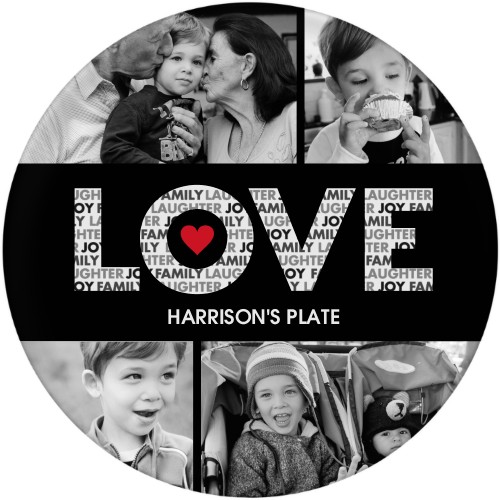 Love In A Word Plate, 10x10 Plate, DynamicColor