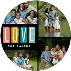 colorful love plate