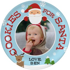 santa cookies plate