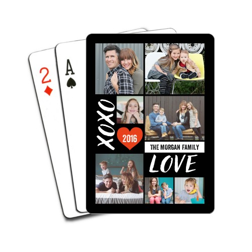 XOXO Love Grid Playing Cards, DynamicColor