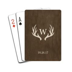 antler monogram playing cards