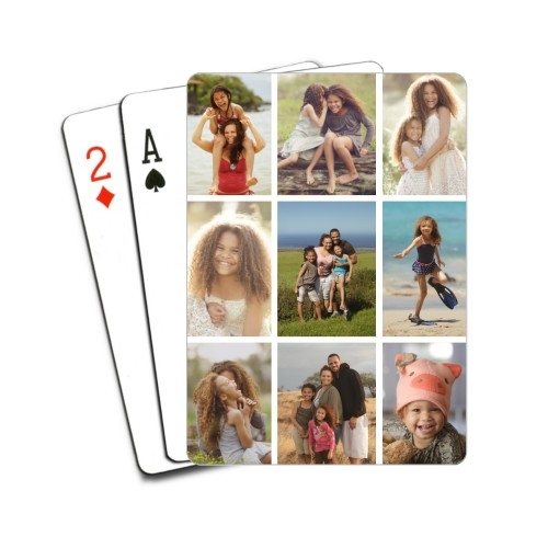 Gallery Of Nine Playing Cards, Multicolor