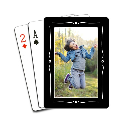 Hand Drawn Frame Playing Cards, Black