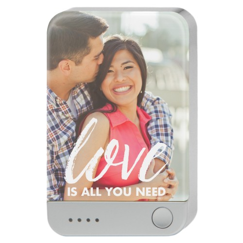 Scripted Love Portable Charger, Portable Charger, White